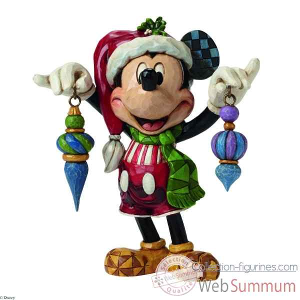 Statuette Mickey mouse deck the halls Figurines Disney Collection -4046064