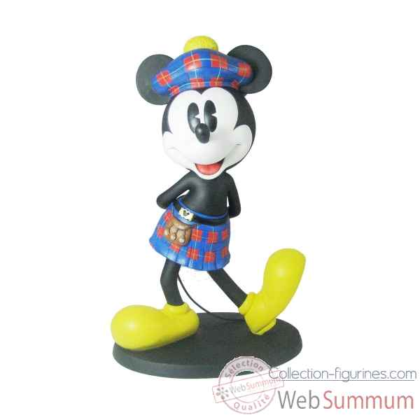 Statuette Mickey mouse scottish large Figurines Disney Collection -A27543