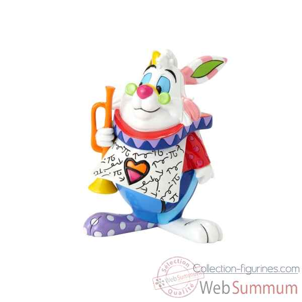 Mini figurine lapin blanc d\'alice disney britto -6001310