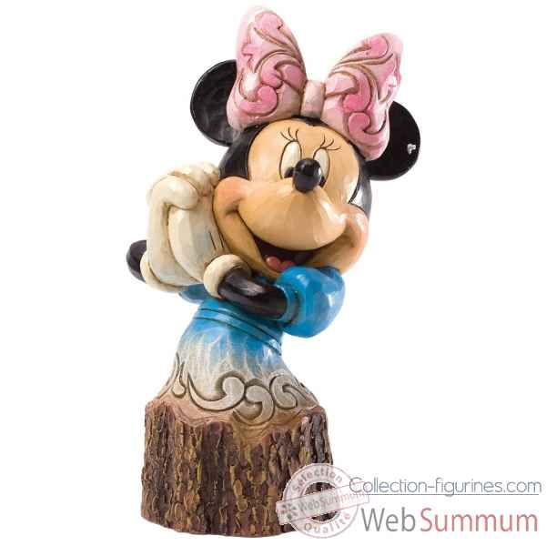 Minnie (wood carved) Figurines Disney Collection -4033289