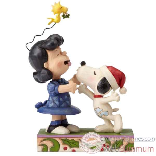 Statuette Mistletoe mishap ( snoopy et lucy) Figurines Disney Collection -4052720
