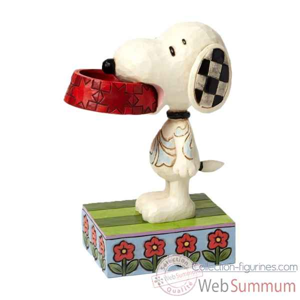 Statuette More food please- snoopy with dog dish Figurines Disney Collection -4049411