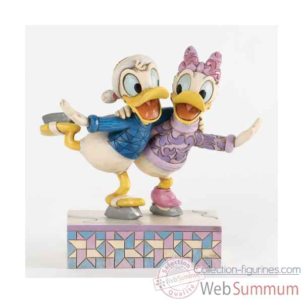 Pairs skating (donald & daisy) Figurines Disney Collection -4033269