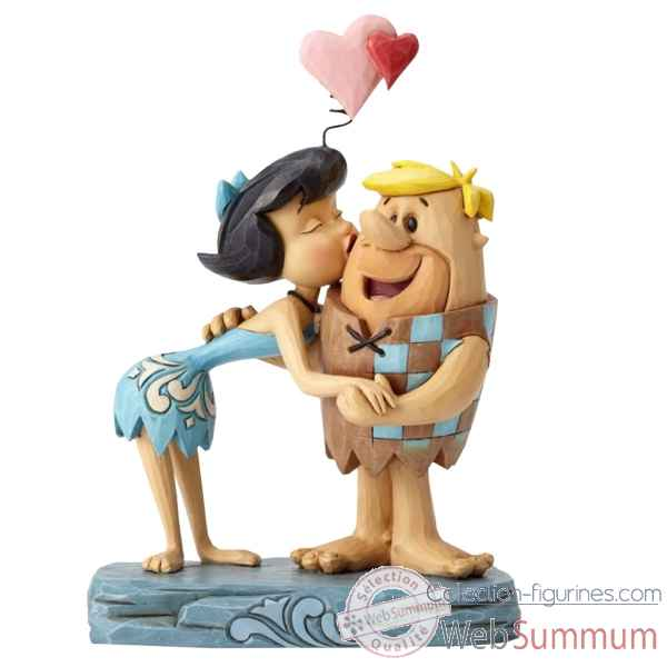 Statuette Pierreafeu rubble romance betty et barney Figurines Disney Collection -4051595
