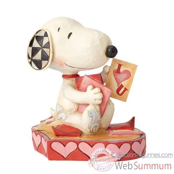 Statuette Puppy love- snoopy Figurines Disney Collection -4055652