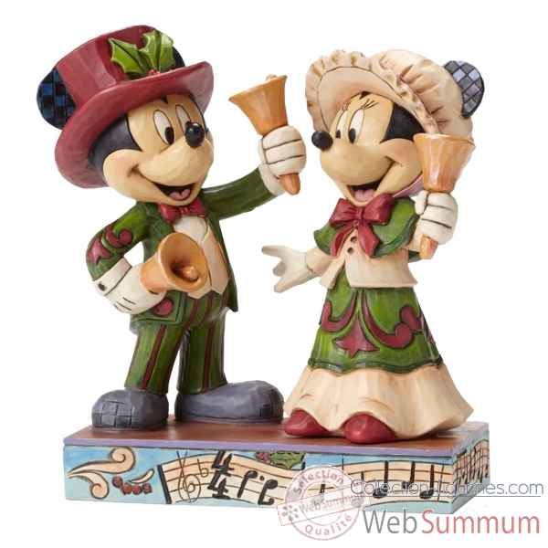 Statuette Ringing in hte holidays mickey et minnie mouse victorian Figurines Disney Collection -4051976