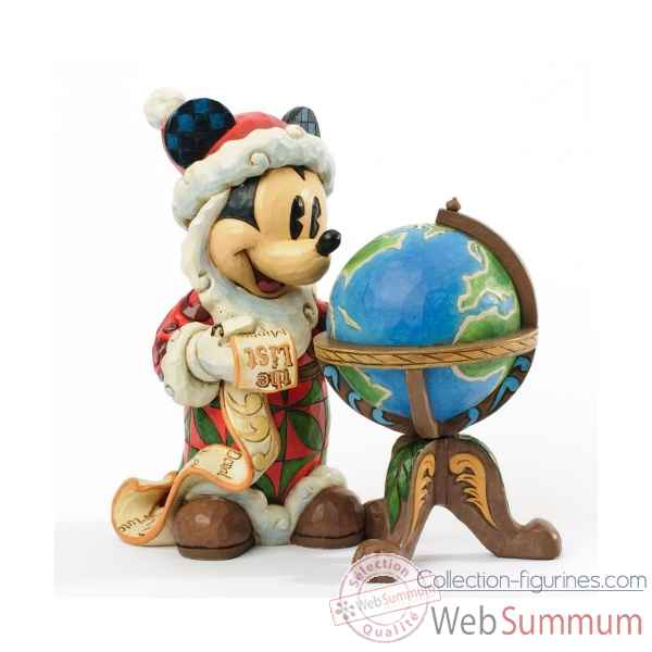 Season\'s greetings around the world mickey mouse Figurines Disney Collection -4033271