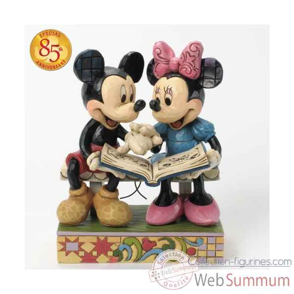 Sharing memories mickey & minnie mouse 85th anniversary Figurines Disney Collection -4037500