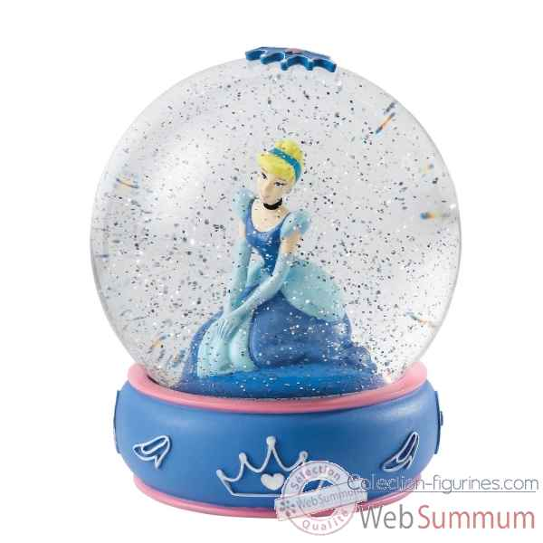 Shy and romantic (cinderella waterball) enchanting dis Figurines Disney Collection -A26968
