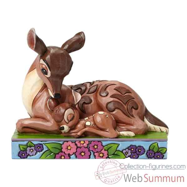 Statuette Sleep tight young prince bambi et sa maman Figurines Disney Collection -4049640