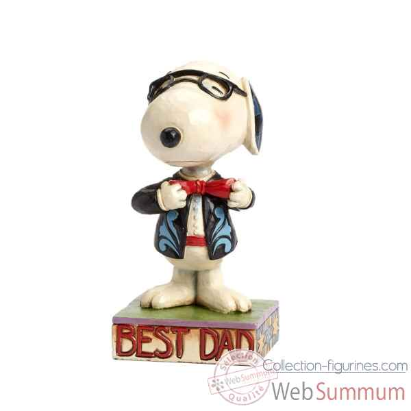 Statuette Snoopy - best dad Figurines Disney Collection -4043615