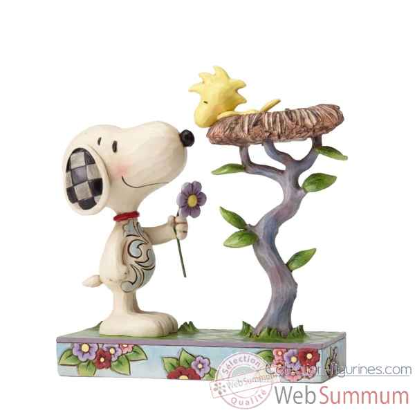 Statuette Snoopy et woodstock in nest Figurines Disney Collection -4054079