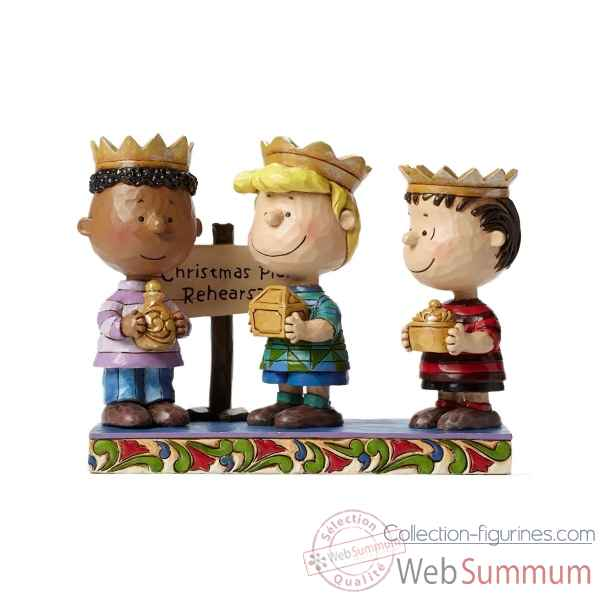 Statuette Snoopy - 3 wise men (franklyn, schroeder et linus) Figurines Disney Collection -4045874