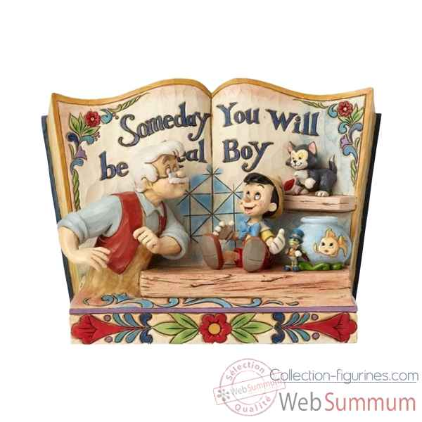 Statuette Someday you will be a real boy storybook pinocchio Figurines Disney Collection -4057957