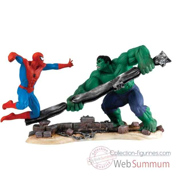 Statuette Spider man vs hulk Figurines Disney Collection -A27606