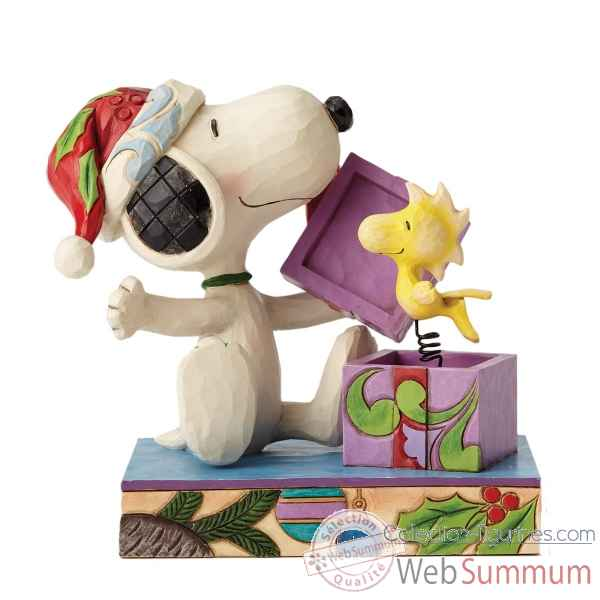 Statuette Surprise de noel snoopy et woodstock Figurines Disney Collection -4053696