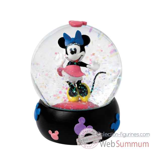 Sweet & flirtatious minnie mouse boule a neige Figurines Disney Collection -A26965