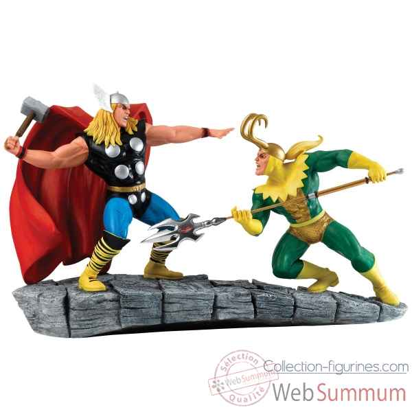 Statuette Thor vs loki Figurines Disney Collection -A27607