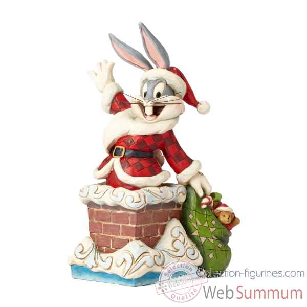 Statuette Up on the rooftop - bugs bunny Figurines Disney Collection -4052808