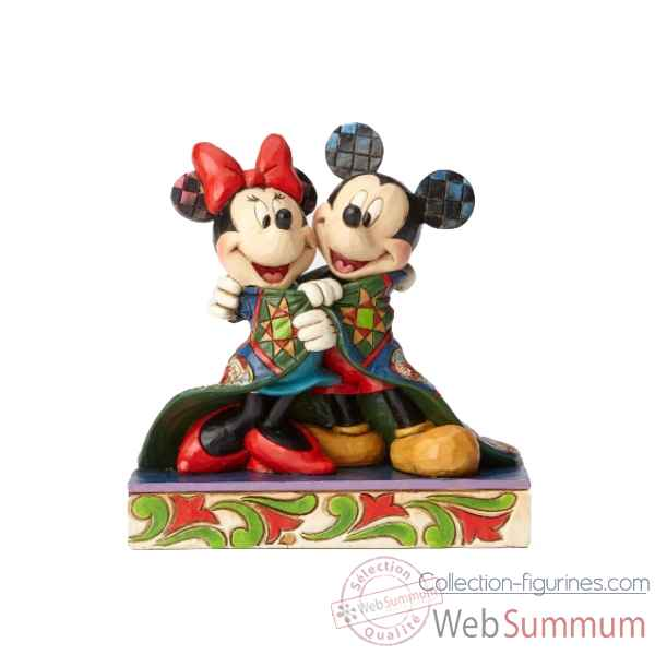 Statuette Warm wishes mickey et minnie mouse Figurines Disney Collection -4057937