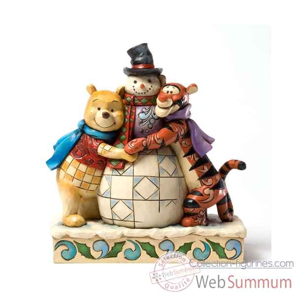 Winter hugs winnie the pooh & tigger Figurines Disney Collection -4033265