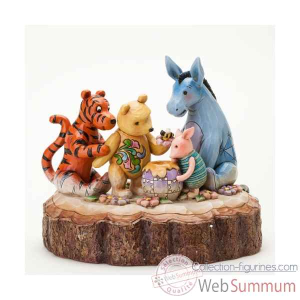 You, me & a hunny bee carved by heart classic pooh n Figurines Disney Collection -4037502