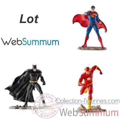 3 figurines Heros Justice League Superman Batman et Flash -LWS-296