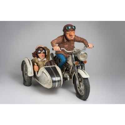 Figurine Forchino Promenade en side-car -FO85087