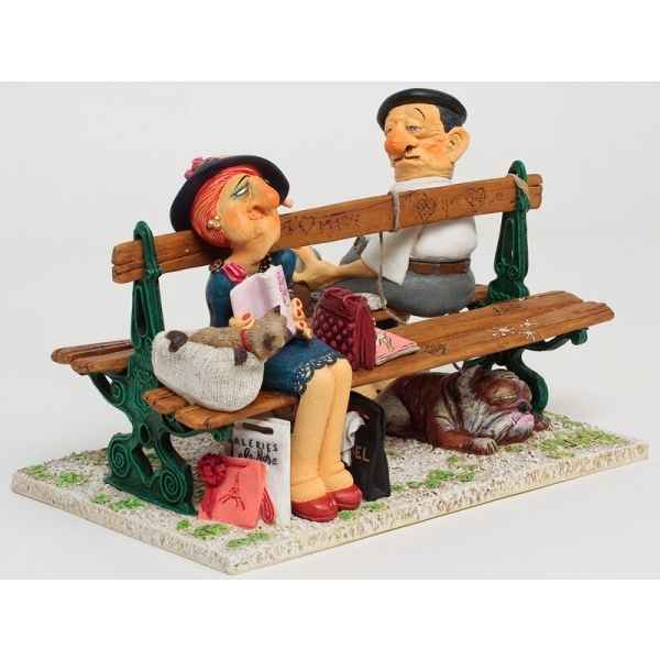 Figurine The paris bench - bois de bologne Forchino FO85703