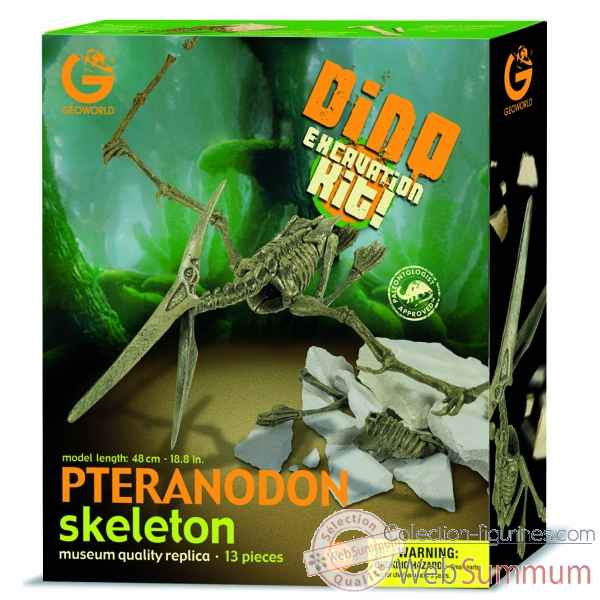 Gw dino excavation kit - pteranodon - 48cm Geoworld -CL124K