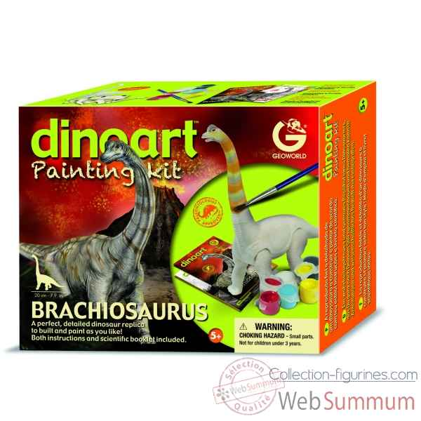 Gw dinoart painting kit - brachiosaurus Geoworld -CL298K