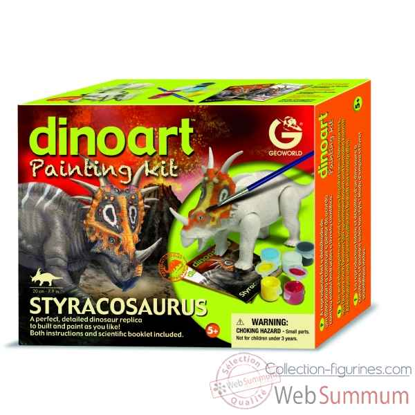 Gw dinoart painting kit - styracosaurus Geoworld -CL301K