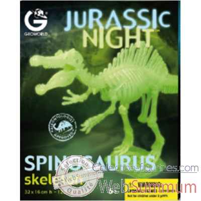 Gw jurassic night - spinosaurus phosphorescent - 32cm Geoworld -CL286K
