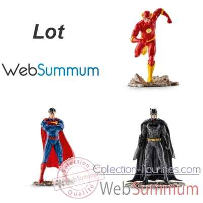 3 heros Justice League Batman Superman et Flash -LWS-295