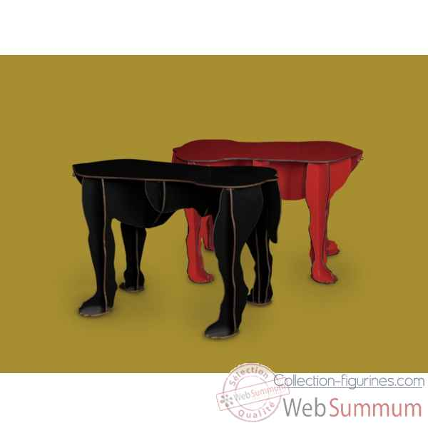 Table basse rex rouge Ibride -REX_rouge