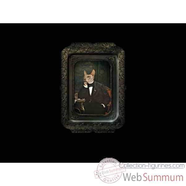 Visconti plateau tableau rectangulaire chat vittore ibride