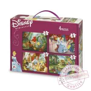 Puzzles 4 en 1 disney princesses  King Puzzle BJ01777