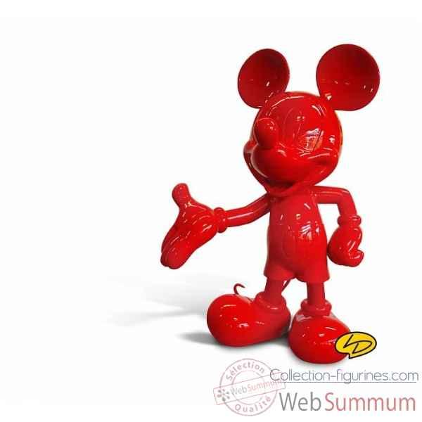 Figurine en Résine ;mickey taille réelle monochrome rouge  BDfugue