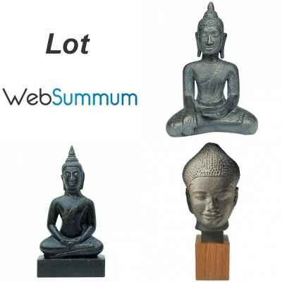 Lot 3 statuettes reproductions Buddha - Reunion des Musees Nationaux -LWS-476