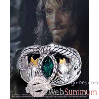 Aragorn - anneau barahir - argent massif Noble Collection -NN9687