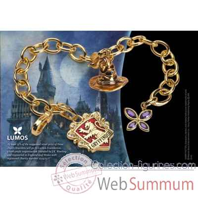 Bracelet charms - lumos gryffondor - harry potter Noble Collection -NN7708