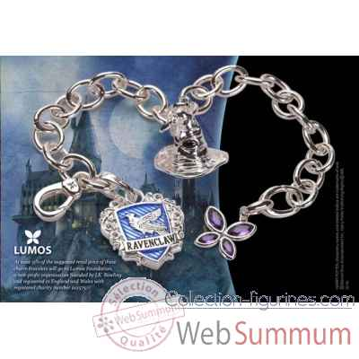 Bracelet charms - lumos serdaigle - harry potter Noble Collection -NN7712