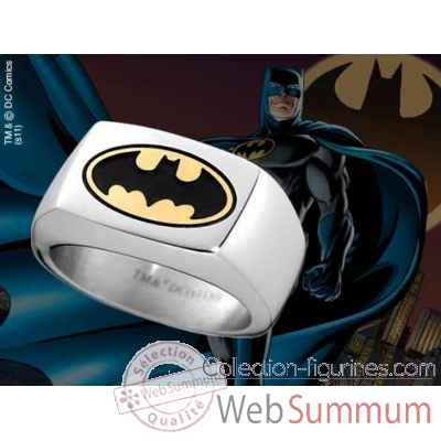Chevaliere batman bat signal oval couleur Noble Collection -NNXT8315