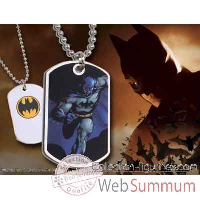 Dog tag batman en action (noir) Noble Collection -NNXT8344
