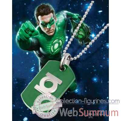 Dog tag green lantern bouclier Noble Collection -NNXT8346