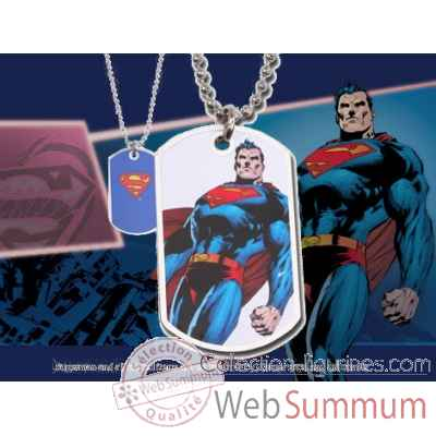 Dog tag superman debout Noble Collection -NNXT8367