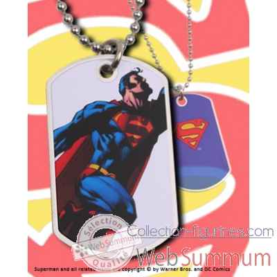 Dog tag superman volant Noble Collection -NNXT8368