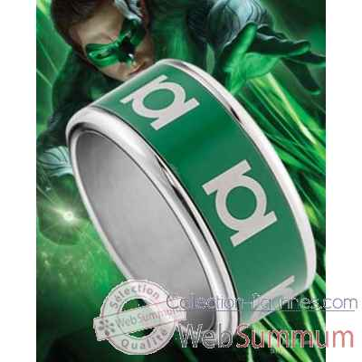 Green lantern - anneau coulissant vert Noble Collection -NNXT8304