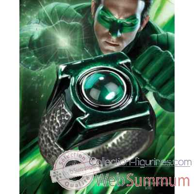 Green lantern - anneau - edition argent Noble Collection -NN8356