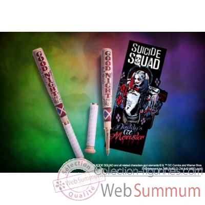 Harley quinn - stylo batte de baseball et marque-pages - suicide squad - dc comics Noble Collection -NN4542